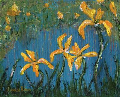Poster featuring the painting Irises by Jamie Frier