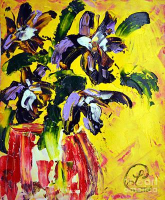 Irises Poster by Lynda Cookson
