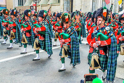 St. Patrick Day Parade In New York Poster