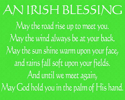 Irish Blessing Green Canvas Poster