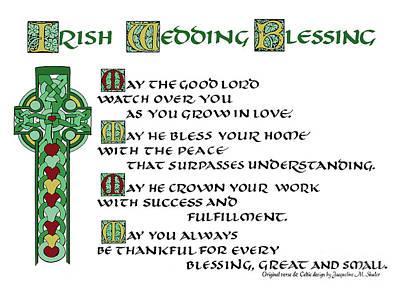 Irish Celtic Wedding Blessing Poster