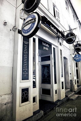 Irish Pub In Marseille Poster