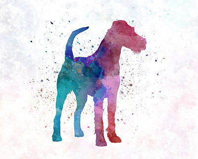 Irish Terrier In Watercolor Poster by Pablo Romero