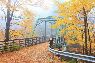 Iron Bridge In Autumn Poster
