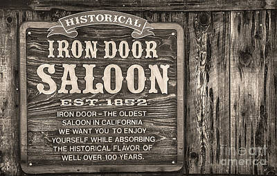 Iron Door Saloon 1852 Poster by David Millenheft