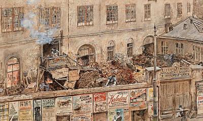 Iron Foundry Kitschelt In Skodagasse Poster by Rudolf von Alt