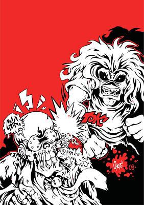 Iron Maiden Vs Megadeth Poster