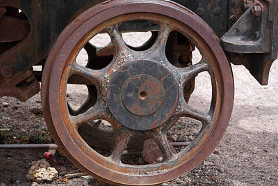 Poster featuring the photograph Iron Train Wheel by Aidan Moran