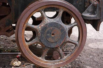 Iron Train Wheel Poster by Aidan Moran