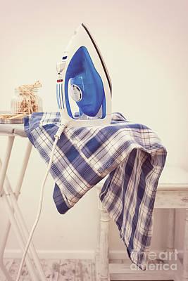 Ironing Poster by Amanda Elwell