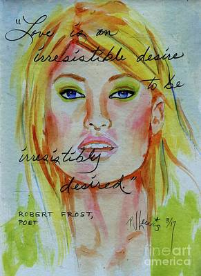 Poster featuring the painting Irresistible by P J Lewis