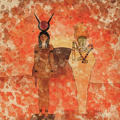 Isis And Osiris By Raphael Terra And Mary Bassett Poster
