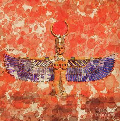 Isis, Mother Goddess Of Egypt By Raphael Terra And Mary Bassett Poster