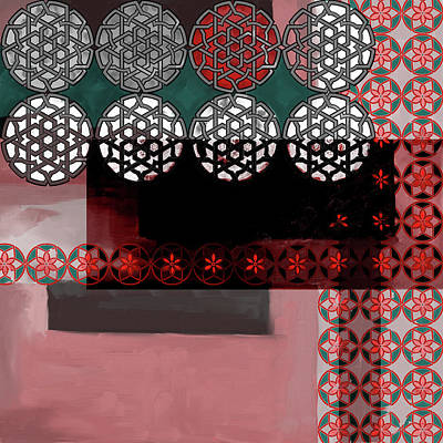 Islamic Motif Vii 446 4 Poster by Mawra Tahreem