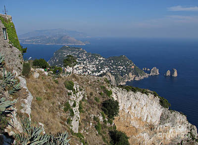 Island Capri View From The Highest Point Monte Solaro Poster by Kiril Stanchev