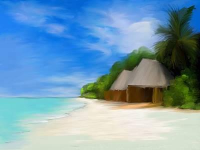 Island Tiki Huts Poster