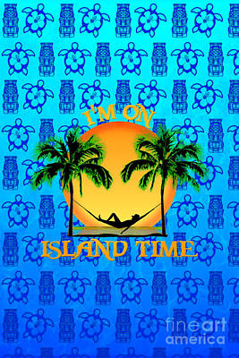 Island Tiki Time Poster by Chris MacDonald