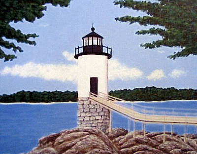 Poster featuring the painting Isle Au Haut Lighthouse by Frederic Kohli