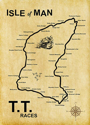 Isle Of Man Tt Poster by Mark Rogan