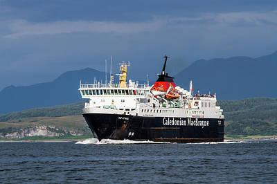 Isle Of Mull Ferry Crosses The Firth Of Lorne Poster