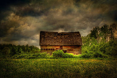 Isolated Barn Poster by Gary Smith