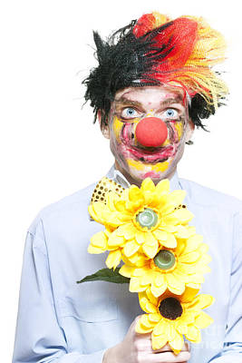 Isolated Clown In A Funny Summer Romance Poster