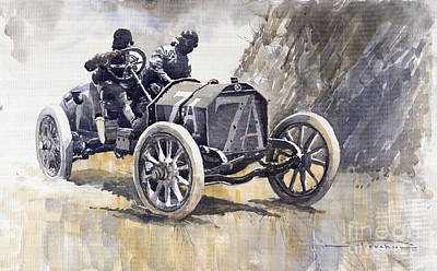 Isotta Fraschini 50hp 1908 Targa Florio  Poster by Yuriy  Shevchuk