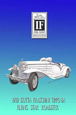 Isotta Fraschini Type 8 Flying Star Roadster Poster