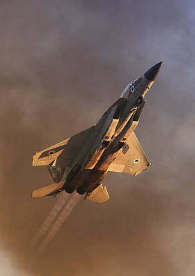 Poster featuring the photograph Israeli Air Force F-15i by Amos Dor