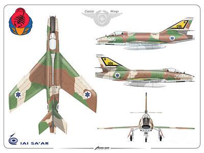 Israeli Air Force Iai Super Mystere Sa'ar Poster