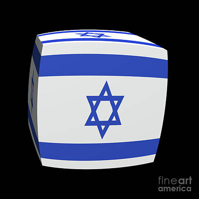Israeli Flag Cubed. Poster