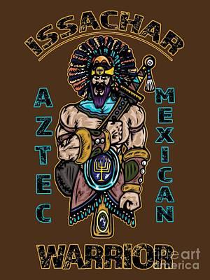 Issachar Aztec Warrior Poster