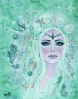 Issiana Mermaid Poster by Renee Lavoie