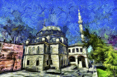 Istanbul Mosque Art Poster