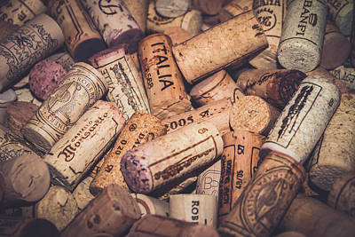 Italia - Corks Poster by Colleen Kammerer