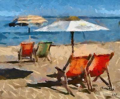 Italian Beach Poster by Dragica  Micki Fortuna