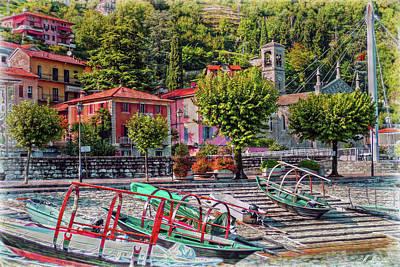 Italian Boat Dock Poster