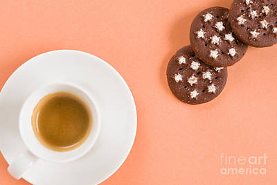Italian Coffee And Biscuits Poster