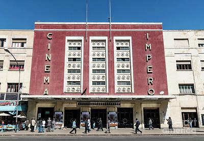 Italian Colonial Art Deco Old Cinema Building In Asmara Eritrea Poster