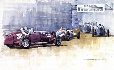 Italian Gp1937 Livorno  Poster by Yuriy  Shevchuk