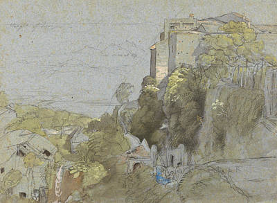 Italian Hill Town Poster by Samuel Palmer