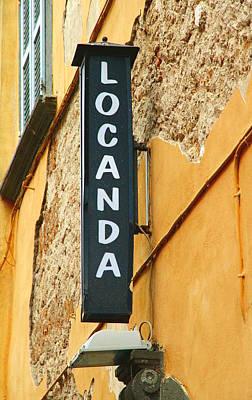 Italian Locanda Poster by Valentino Visentini