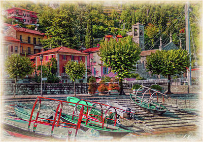 Italian Scenic Boat Dock Poster by Hanny Heim