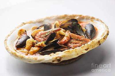 Italian Seafood Stew Baked In Bread Loaf Poster by Jacek Malipan