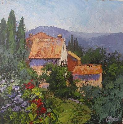 Poster featuring the painting Italian Village by Chris Hobel