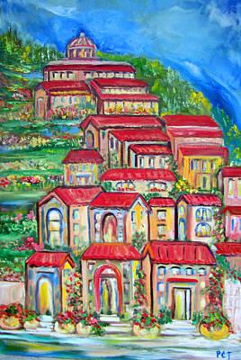 Italian Village On A Hill Poster