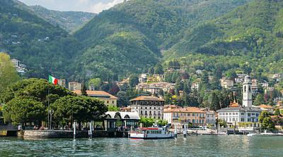 Italian Village On Lake Como Poster