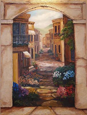 Italian Walkway Poster by Scott Stafstrom