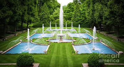 Italian Water Gardens Longwood Gardens Poster by Amy Cicconi