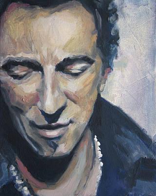 It's Boss Time II - Bruce Springsteen Portrait Poster by Khairzul MG